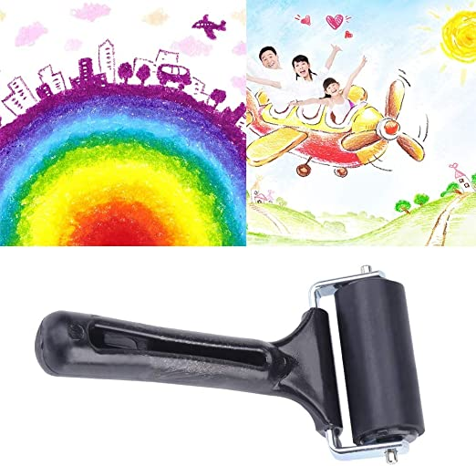Rubber Brayer Roller Paint Brush Ink Applicator Art Craft Oil Painting Tool Simlug Soft Rubber Brayer