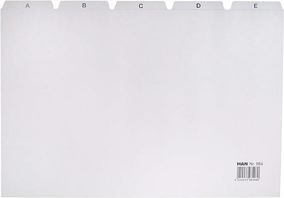 Han 984 - Separadores para cajas (DIN A4, letras A-Z ...