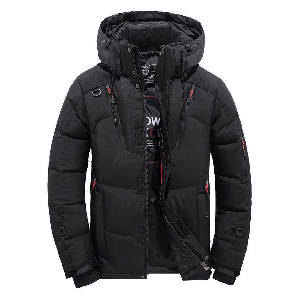 Frashing Herren Winterjacke Herren Daunenjacke Kurze Verdickte Jacke Warme Winterjacke Mantel Blazer Jacke Trenchcoat Wattierter Blousonmantel