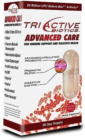TriActive Biotics™ Advanced Care, Probiotics for Women, Probiotics for Men and Adults, Microencapsulated Probiotics, 20 Billion CFU - 30 Capsules