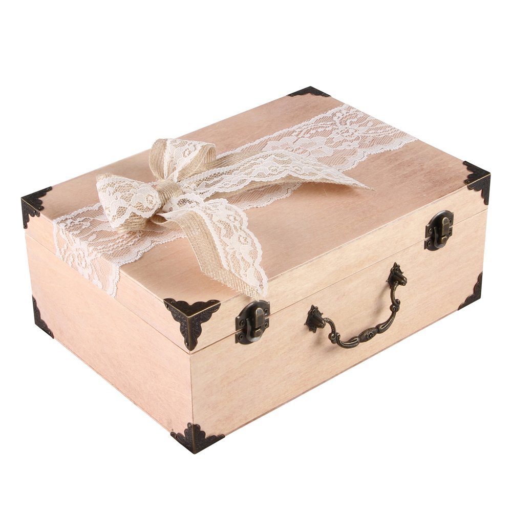 Ivy Lane Design Country Romance Guest Box, Ivory