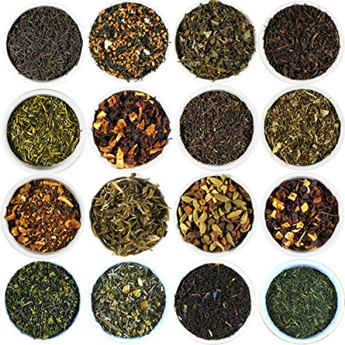 Beantown Tea & Spices - Gourmet Loose Leaf Tea Sampler. 30 Varieties To Choose From. Each Sampler Makes 3-5 Servings. Green, Black, White and Herbal Teas. (Cherry Blossom Green Tea)