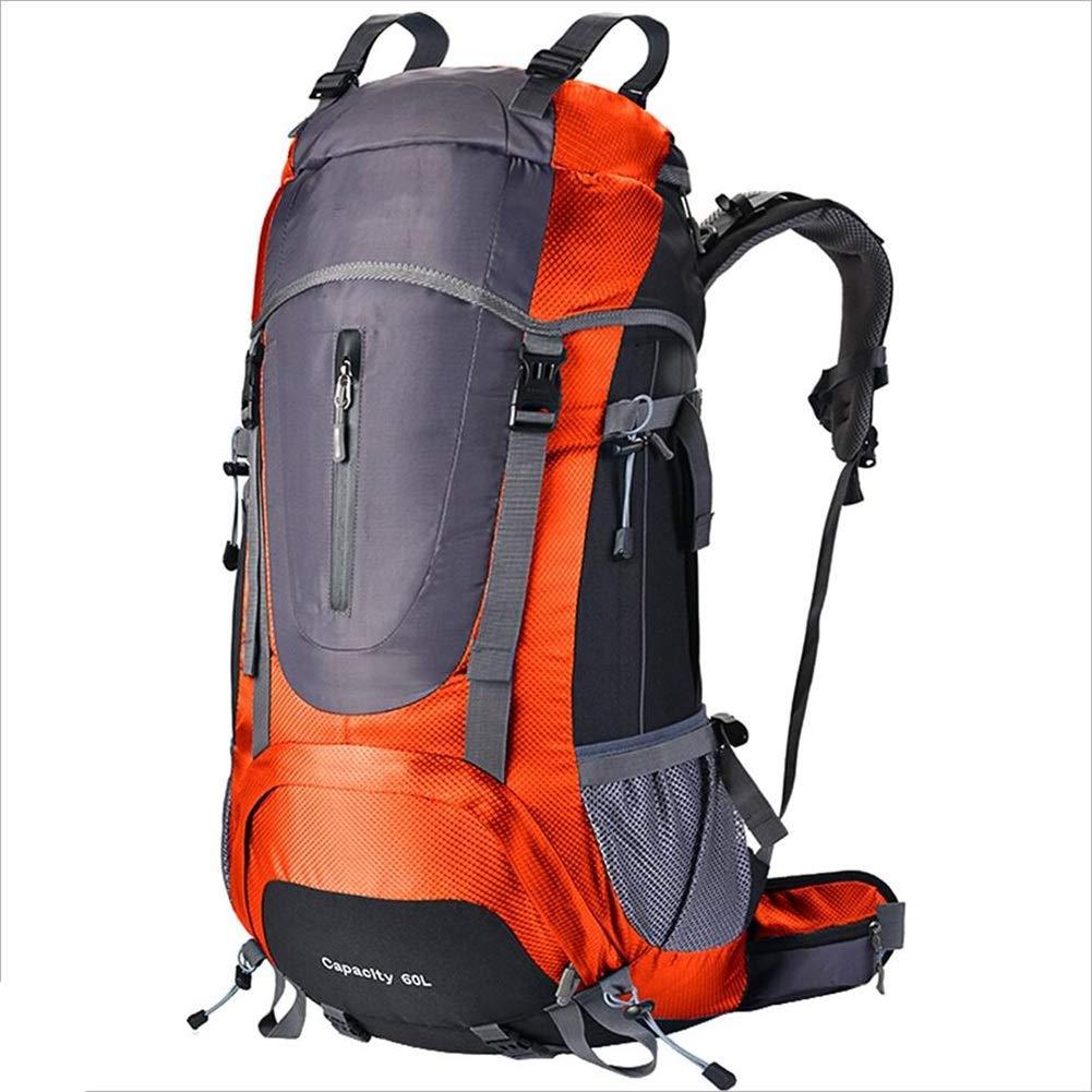 ハイキングトラベルバックパックトレッキング登山キャンプ登山用リュックサック男性用女性レインカバー付き CONGMING (色 : Orange, サイズ さいず : 60 60) 60 60 Orange B07QF8XMMH