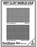 Flexistamps Texture Sheet Set Airwaves Set (Including Airwaves and Airwaves Inverse)- 2 Pc.