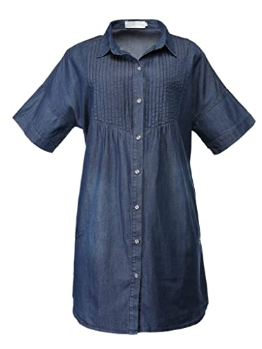Jusian - Camisas - Button Down - Manga corta - para mujer