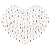 100PCS Mini Mollette Legno Mollettine Decorative Cuore Bianche Absofine per Foto Biglietti Scrapbooking Matrimonio BIANCO