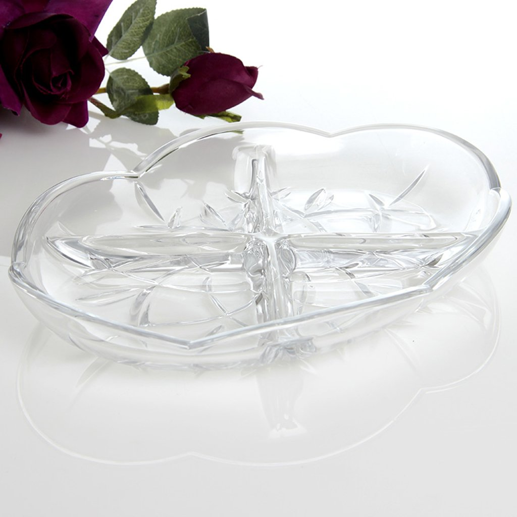 modern Transparent glass fruit dish fashion High capacity Dried fruit plate coffee table Home Decoration Candy plate Living room Decoration large