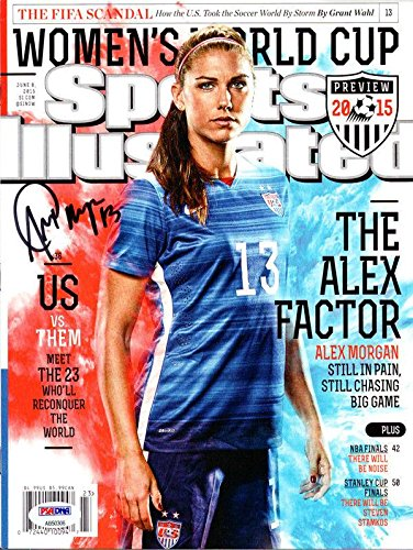 Alex Morgan Autographed Sports Illustrated Magazine Team Usa 106579 PSA/DNA Certified Autographed Soccer Magazines