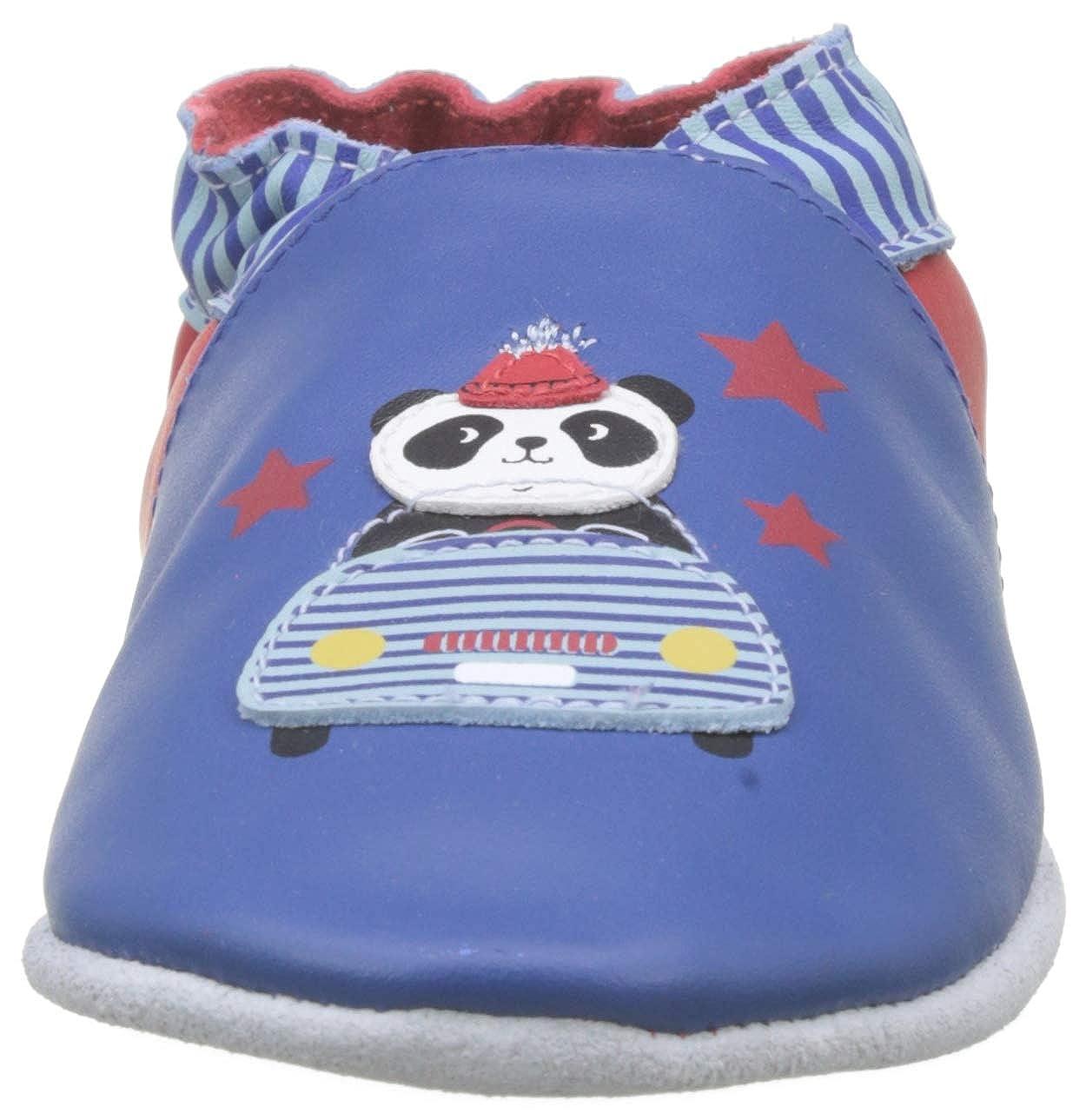 Chaussons b/éb/é gar/çon Robeez Panda Auto