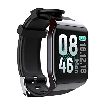 TDOR Smartwatch Reloj Inteligente para iPhone y Android, Whatsapp, Color Negro