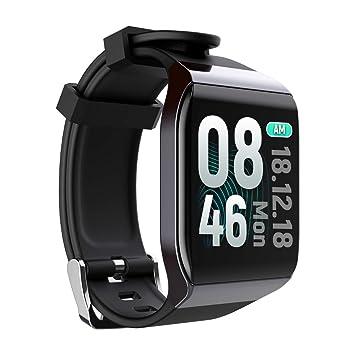 TDOR Smartwatch Reloj Inteligente para iPhone y Android, Whatsapp, Color Negro