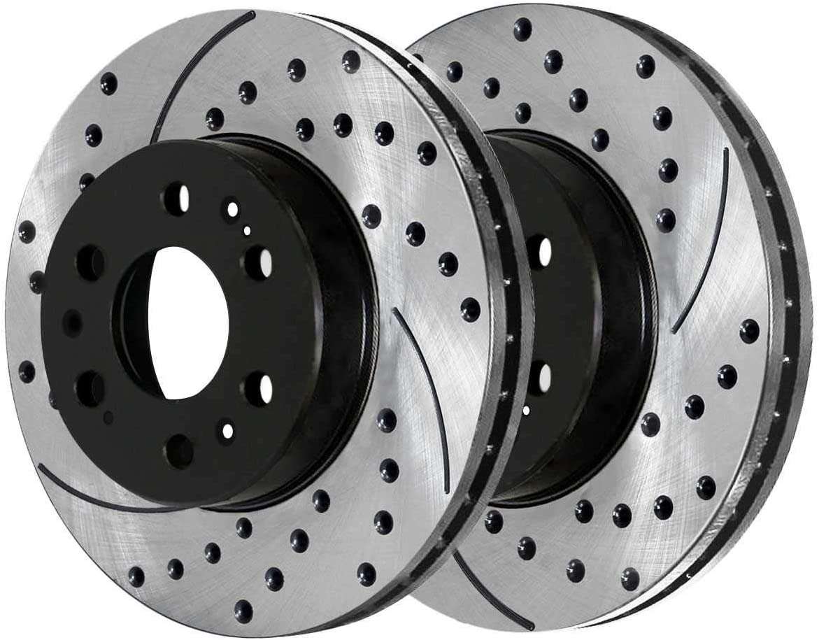 Auto Shack PR65099LR Front Drilled and Slotted Brake Rotor Pair