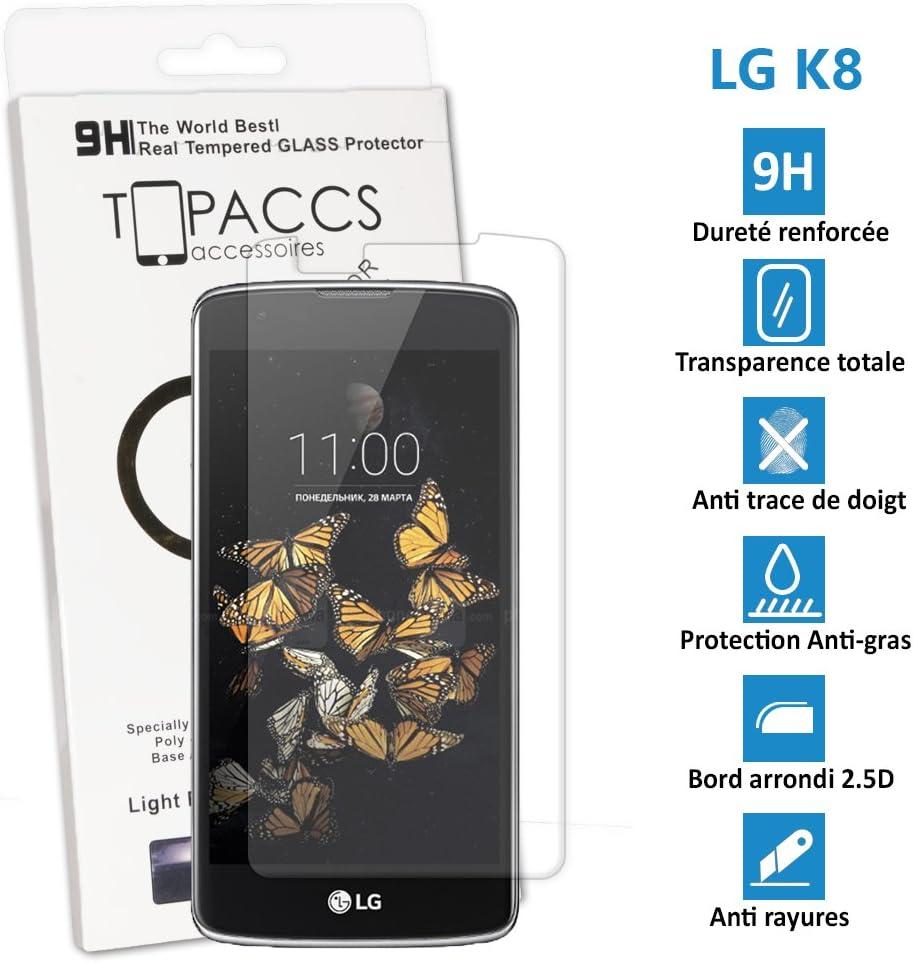 Topaccs - Protector de pantalla de vidrio templado para LG K8 ...