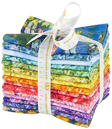 Claude Monet 15 Fat Quarters Robert Kaufman Fabrics FQ-1244-15 from Robert Kaufman