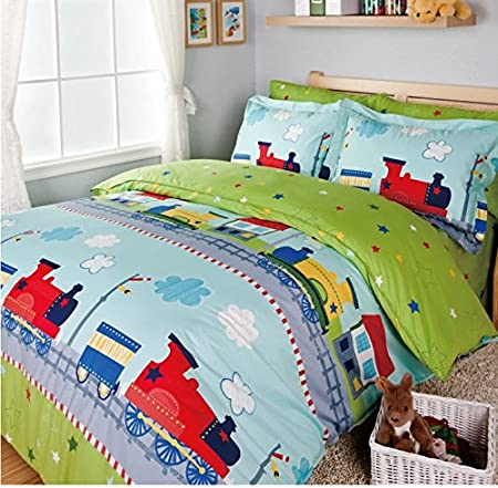 train bedding sets kids bed bed cover set sheets for bed boys rh amazon co uk Black Queen Bedroom Sets Black Queen Bedroom Sets