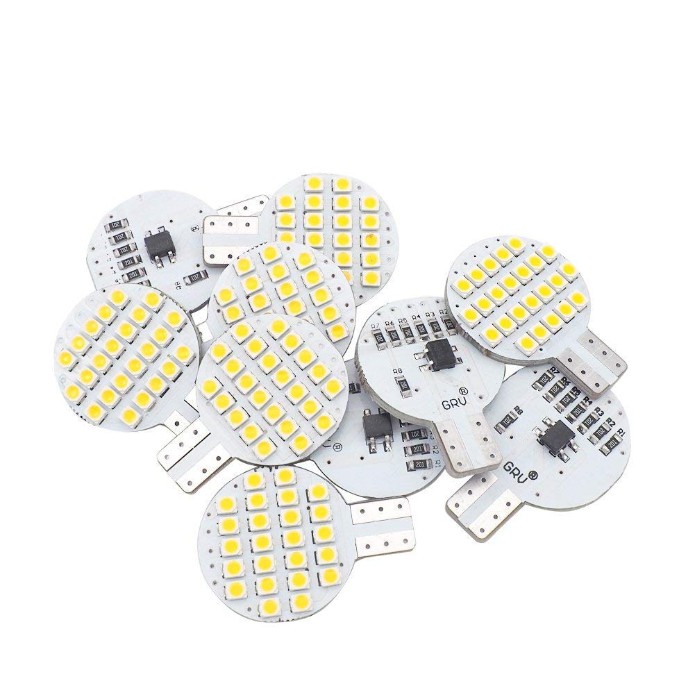 Grandview 10pcs Super Bright Blue T10 501 W5W 194 168 LED Bulb with 10-5730-SMD for Car Interior Dashboard Number Plate Sidelights Courtesy Lights DC 12V