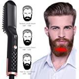 Beard Straightener for Men, Womdee Beard Hair Straightener Portable Brush with Anti-Scald Feature Multifunctional Quick Curling Curler Straightener Comb for Men and Women