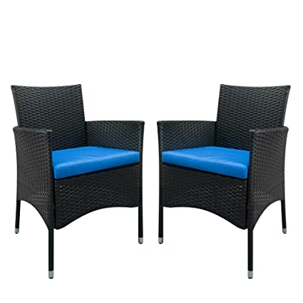 Astonishing Amazon Com Set Of 2 Modern Contemporary Wicker Patio Gmtry Best Dining Table And Chair Ideas Images Gmtryco