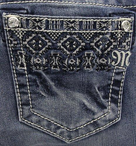 Miss Me Women's Embroidered Cuff Denim Cuffed Skinny Jean...