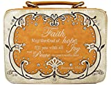 WF Western Style Embroidered Scripture Bible Verse Cover Cross Extra Strap Messenger Bag Crossbody (2Beige)
