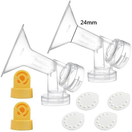758c95449a18 One-Piece Coppa per il seno (24 mm) w / valvola, membrana per Medela  tiralatte (Swing, ...