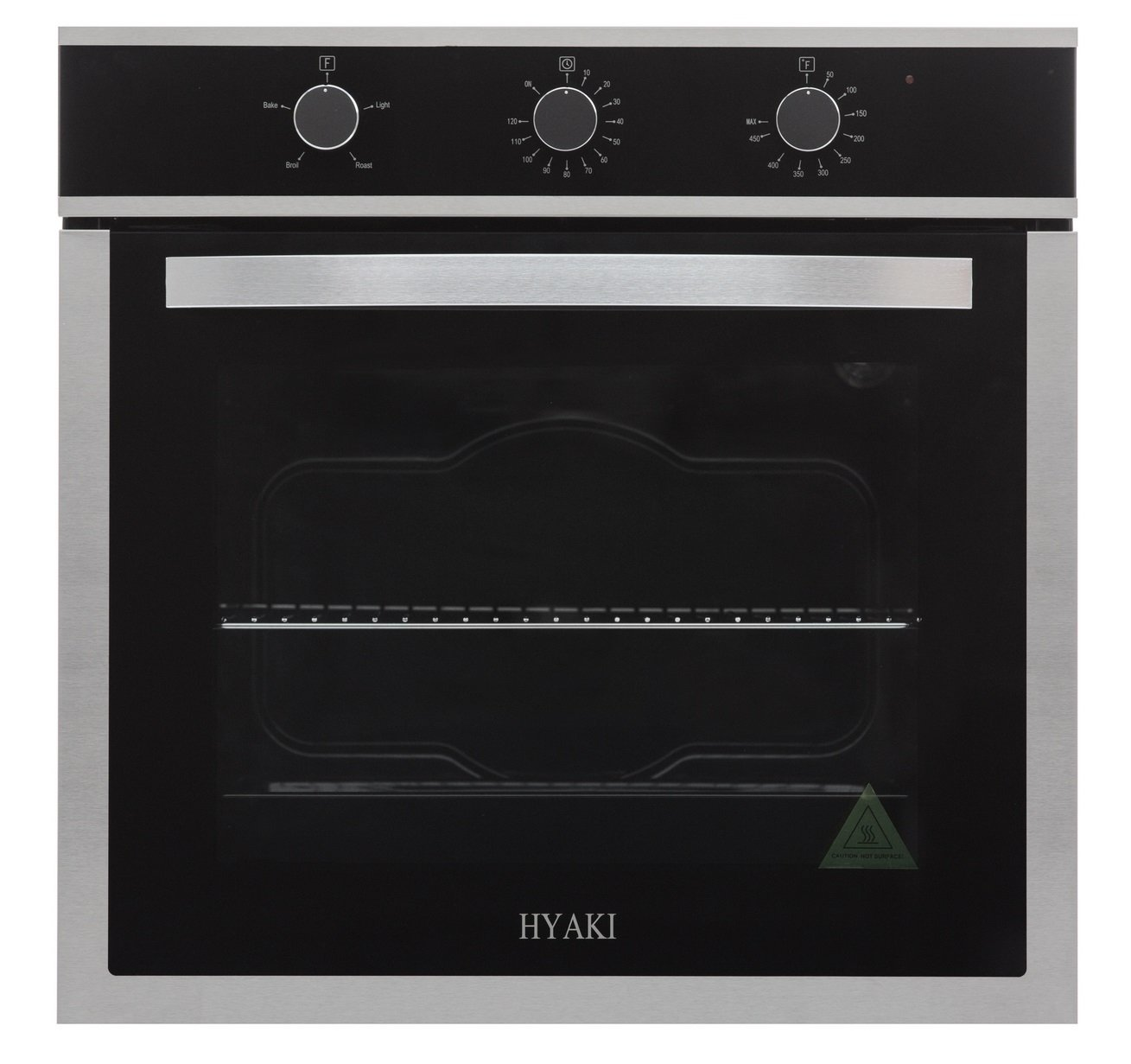 "Hyaki 24"" Modern Style Stainless Steel Built in Electric Wall Oven 220V HYK-24WOX03"