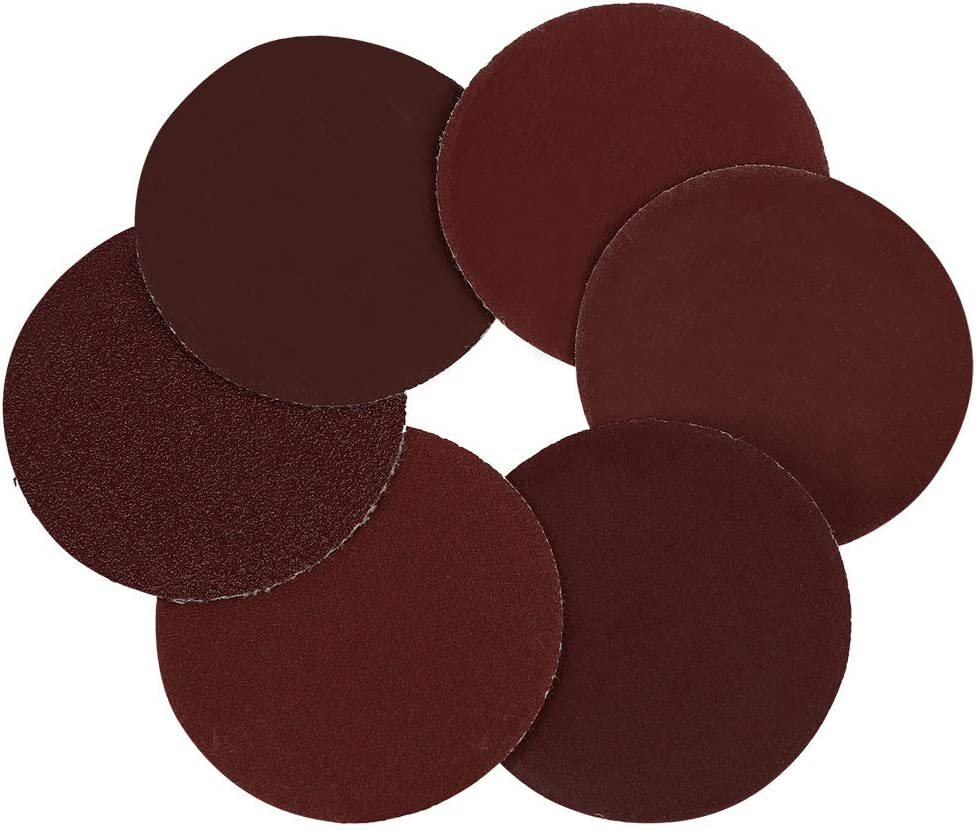 uxcell 60 Pcs 2 Inch Hook and Loop Sanding Discs 100 240 600 800 1000 2000 Assorted Grits Sandpaper