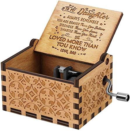lindames - Caja de Madera para Regalo de cumpleaños, decoración del hogar, Cajas Musicales y Figuras, Madera, tipo4, 6.5 x 5 x 4.2cm/2.6 x 2 x 1.7inch: Amazon.es: Hogar