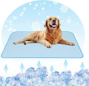 Cooling Pet Pad Mat for Dogs & Cats Gel Self Cool Vest Dog Mats Machine Handy Washable & Portable Breathable Dogs Cooling Pads for All Pets, Summer, Travel, Outdoor, Seats
