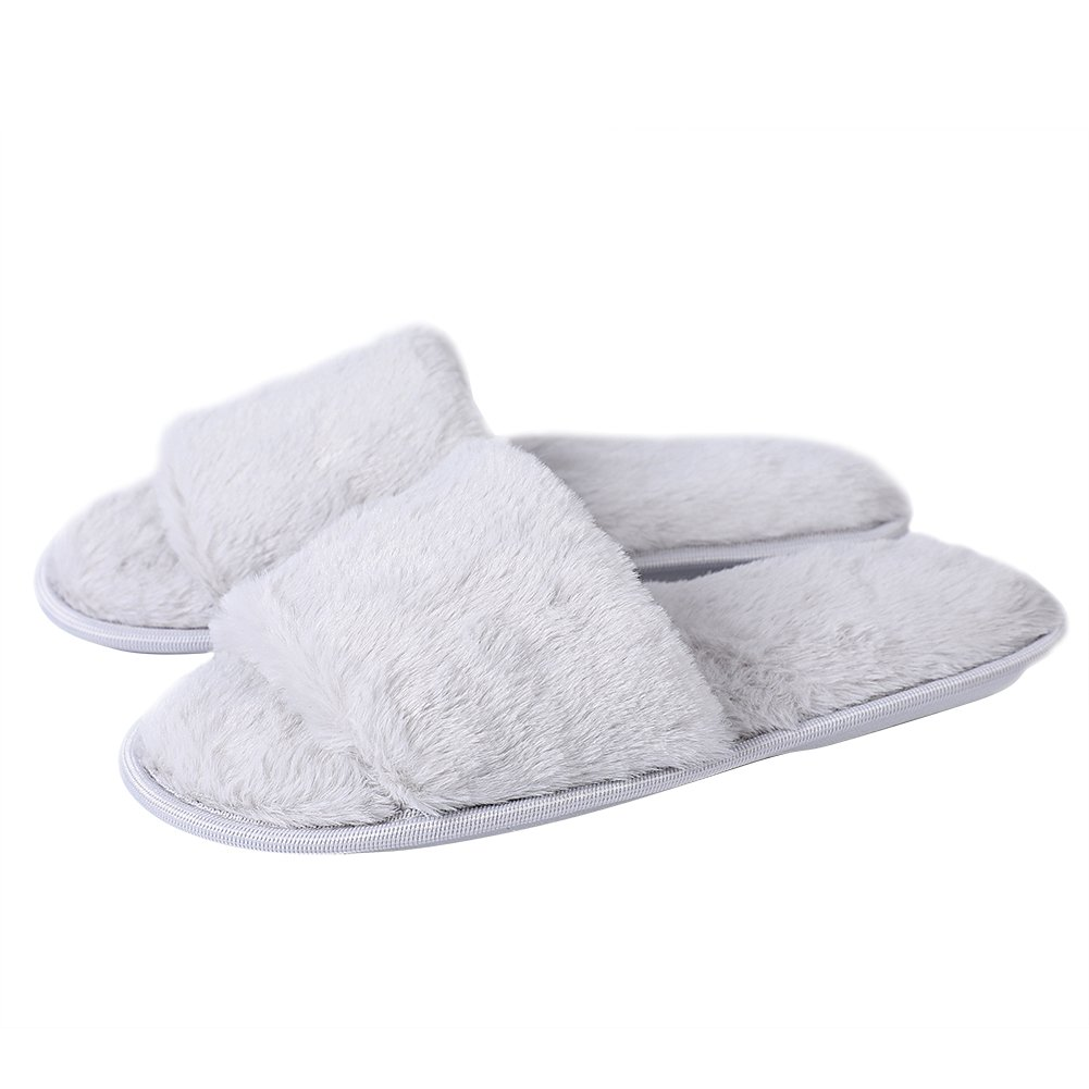 f65ab58ac Amazon.com | Dolcevida Womens Girls Faux Fur Fuzzy Slides Memory Foam Comfy  House Slippers Winter Warm Sandals | Slippers