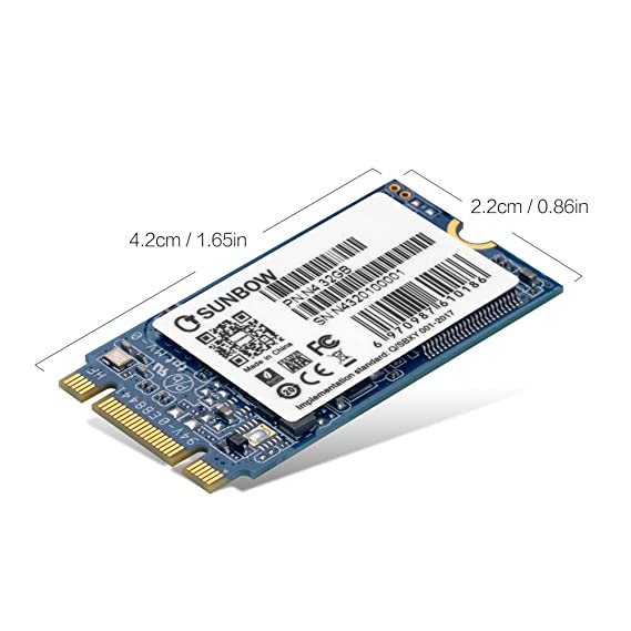 TCSUNBOW M.2 2242 32GB SSD NGFF 30GB 32GB Solid State Drive Disk for Ultrabook Desktop PCs and Mac Pro (22*42mm)  (N4 32GB): Amazon.es: Informática