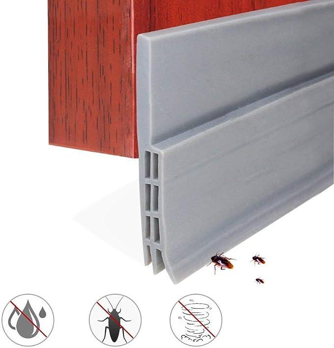 Tira de Sellado Burlete Bajo Puerta Tira Autoadhesiva Silicona para Puerta Aislamiento Acústico/a Prueba de Viento/Anti-bug de Sellado, 5x100cm: Amazon.es: Hogar