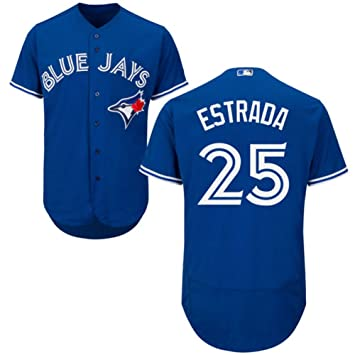 los angeles 70028 fb661 Toronto Blue Jays #25 ESTRADA Jersey Men's Baseball Jersey Blue
