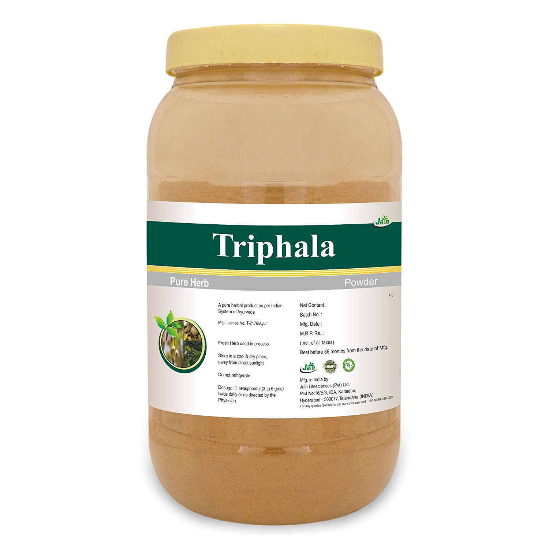 Jain's Triphala Powder 1 Kg - Indian Ayurveda's Pure Natural Herbal Supplement Powder