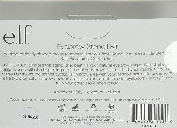 e.l.f. Eyebrow Stencil Kit: Amazon.es: Belleza