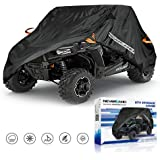 UTV Cover, Waterproof Heavy Denier Oxford Cloth Material for Polaris RZR Yamaha Rhino Can-Am Defender Honda Pioneer Kawasaki