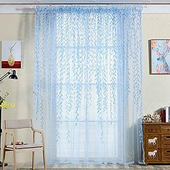 Amazon Com Edal 1xsheer Tap Top Curtain Window Living