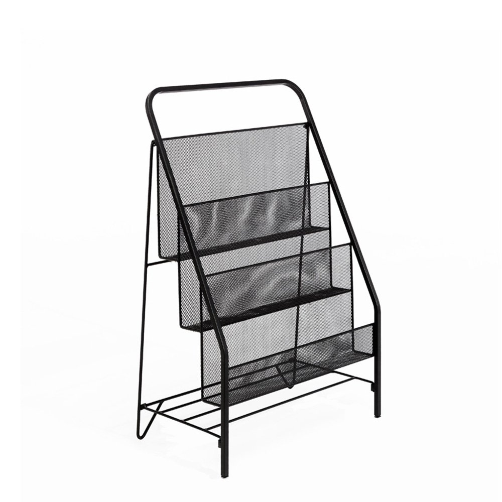Newspaper rack for office Publication Kxbymx Floor Magazine Shelf Wrought Iron Minimalist Newspaper Rack Childrens Newspaper Rack Office Storage Rack Multifunction Rack color Black Amazoncom Amazoncom Kxbymx Floor Magazine Shelf Wrought Iron Minimalist