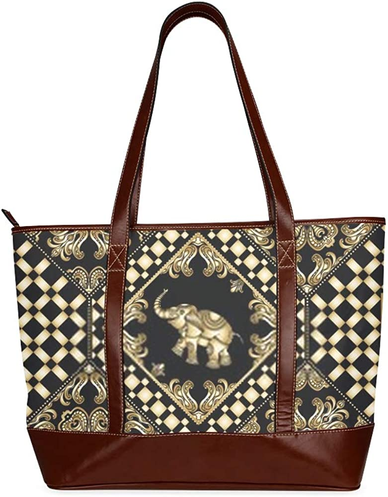Tote Bags Vector Abstract Seamless Patchwork Background Black Travel Totes Bag Fashion Handbags Shopping Zippered Tote For Women Waterproof Handbag