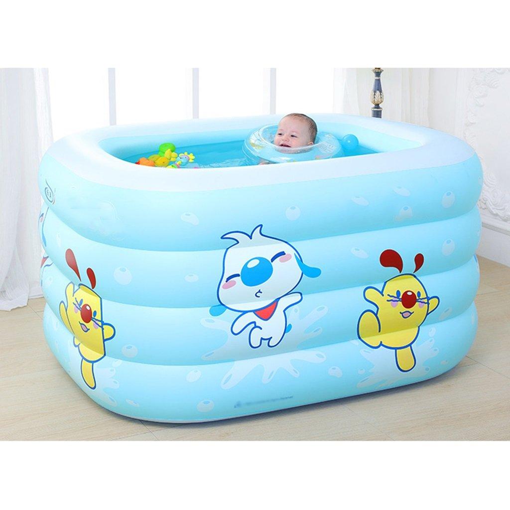 Barato Bathtub-G YDYLZC- Tina para niños / Piscina antideslizante inflable para viajes de bebé plegable 3 colores - 2 tamaños disponibles suave ( Color : B, Size : 14011070cm )
