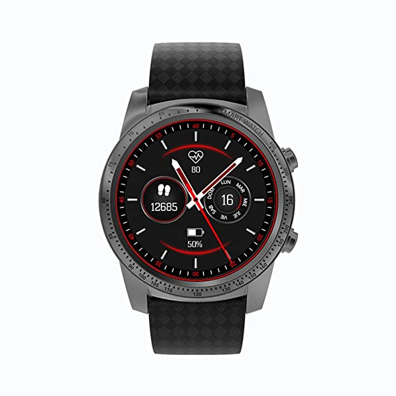 Allcall W1 Smartwatch con ranura para tarjeta SIM 3G WCDMA MP3 MP4 WiFi, análisis del sueño, podómetro, anti-pérdida, rastreador de fitness, alertas ...