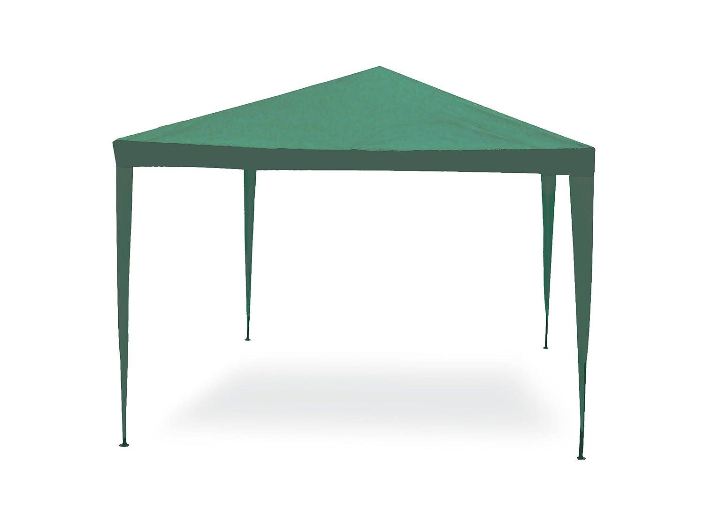 Gazebo facile verde 3x3 m. Struttura in acciaio copertura in pe. 110 gr/m². Biacchi G1617001