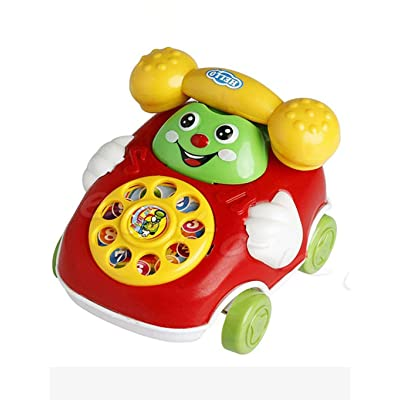 Lanbter Baby Toys Cartoon Car Phone Kids Educational Developmenta Push & Pull Toys: Home & Kitchen