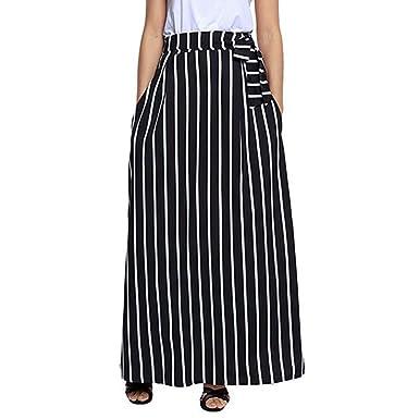 Faldas para Mujer, Moda Clásica Cintura Alta hasta el Tobillo ...