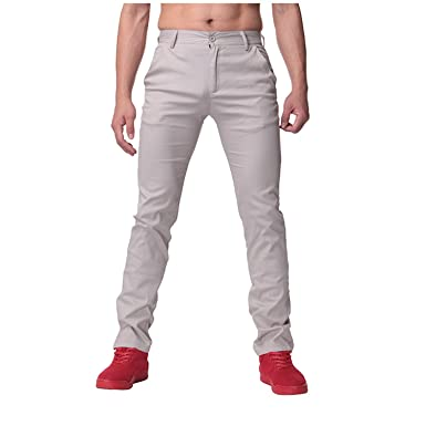 712f52c952f spyman Size 30-44 Mens Straight Cargo Pants Chinos Men Casual Business Slim  Fit Autumn