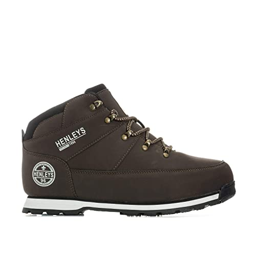 97fe68d0300 Henleys Mens Mens Woodland Boots in Brown - UK 6: Amazon.co.uk ...