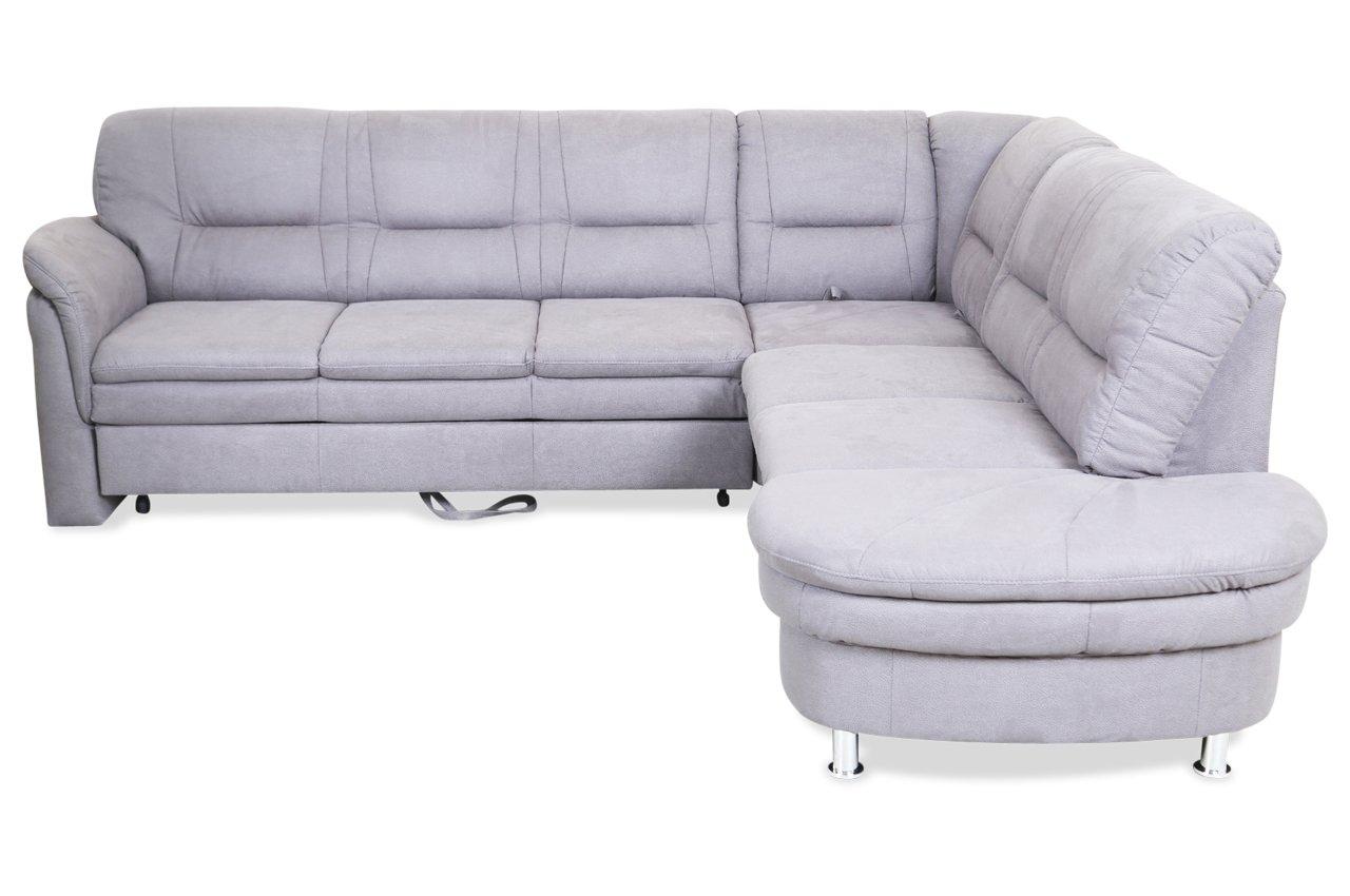 Sofa Rundecke Cascada mit Schlaffunktion Grau Luxus