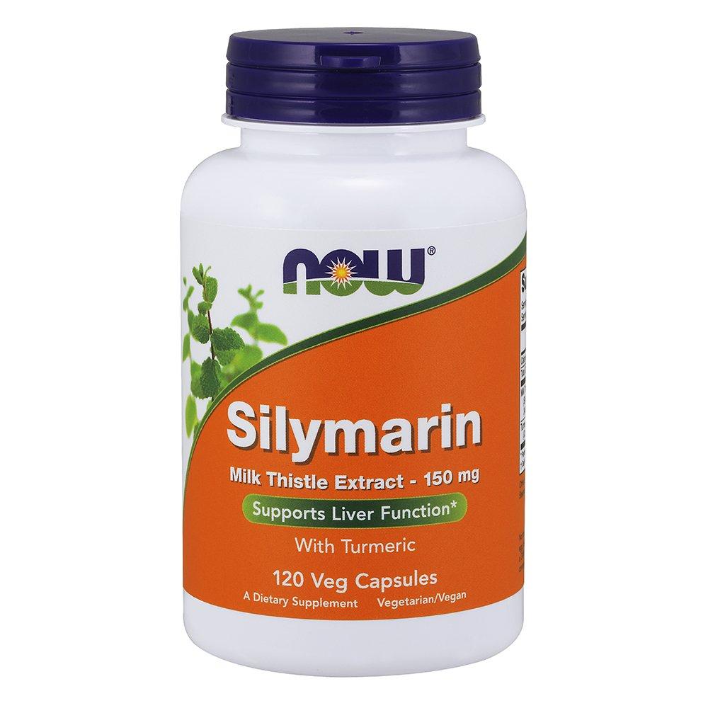NOW Silymarin Milk Thistle Extract 150 mg,120 Veg Capsules
