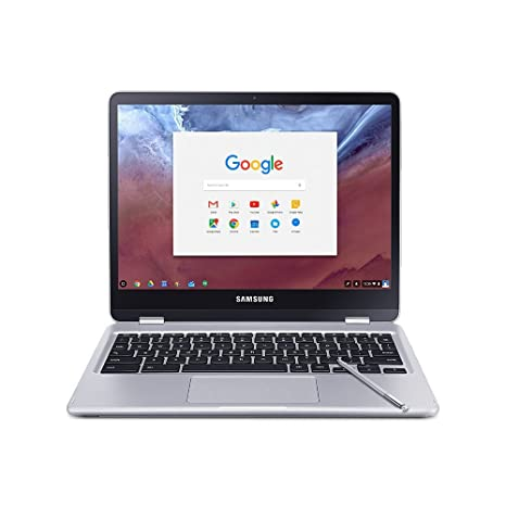 Samsung 2-in-1 Convertible Touchscreen 12 3 inch Chromebook Plus, 4GB RAM,  32GB eMMC, Webcam, Stereo Speakers, Chrome OS, Built-in Pen, Platinum