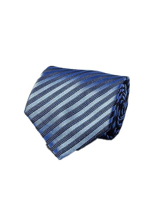 Oudan Corbata de Rayas de 8 cm Corbata de Hombre Elegante de Corte ...